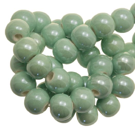 Ceramic Beads (6 mm) Mint Green (25 pcs)