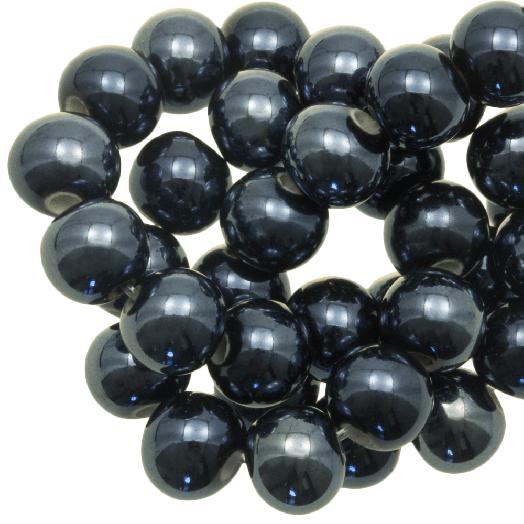 Ceramic Beads (8 mm) Petrol (25 pcs)