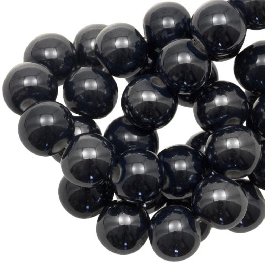 Ceramic Beads (8 mm) Black (25 pcs)