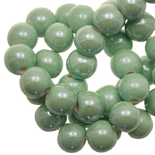 Ceramic Beads (8 mm) Mint Green (25 pcs)