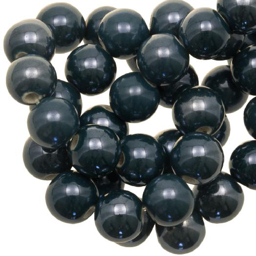 Ceramic Beads (10 mm) Petrol (20 pcs)