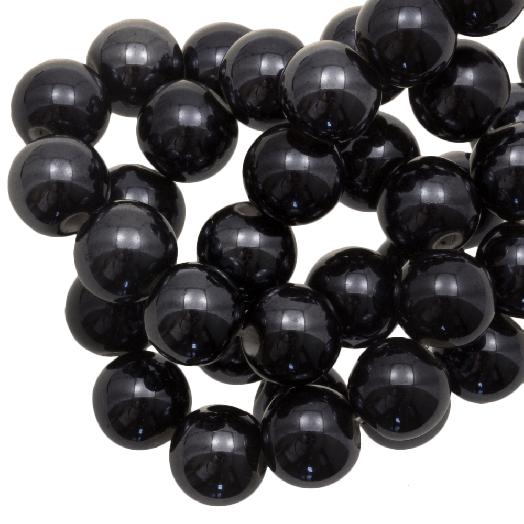 Ceramic Beads (10 mm) Black (20 pcs)