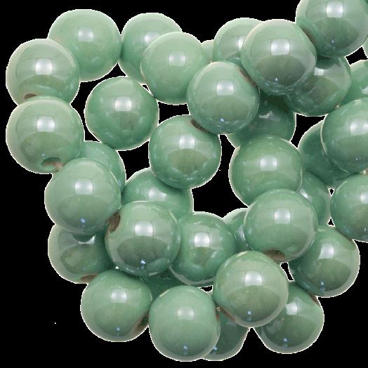 Ceramic Beads (10 mm) Mint Green (20 pcs)