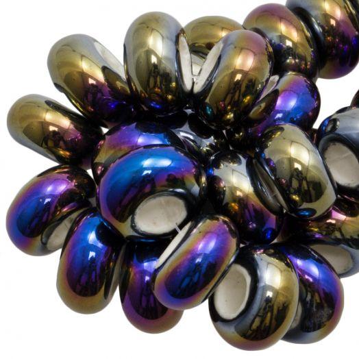 Ceramic Beads Large Hole (16 x 8 mm) Multi Color (15 pcs)