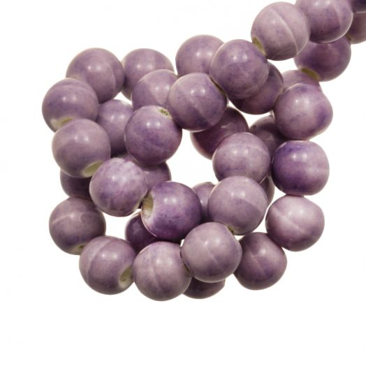 Ceramic Beads (6 mm) Marble Lilac (15 pcs)