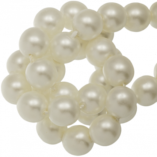 DQ Glass Pearls (6 mm) Broken White (80 pcs)