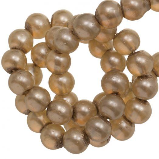 Basic Quality Glass Pearls (6 mm) Champagne (135 pcs)