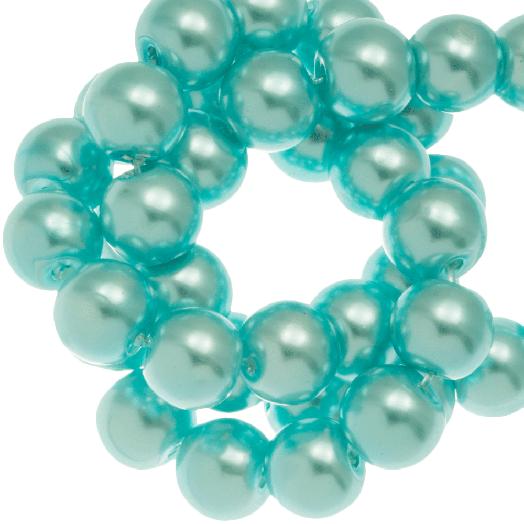 Glass Pearls (6 mm) Aqua Blue (160 pcs)