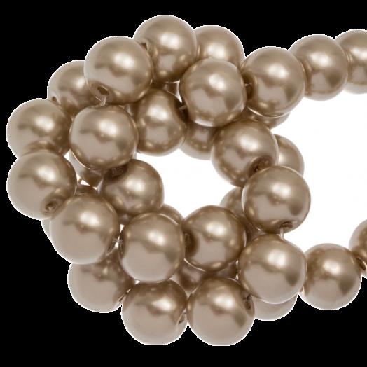 Glass Pearls (8 mm) Major Brown (100 pcs)
