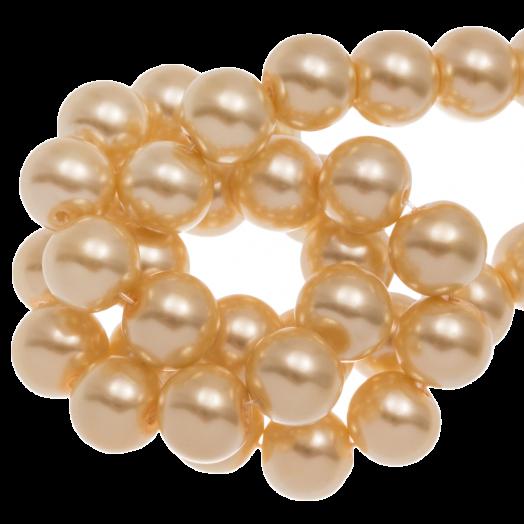 Glass Pearls (8 mm) Sunshine Yellow (100 pcs)