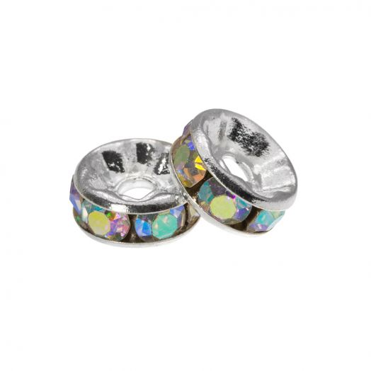 Rhinestone Spacers (4 x 2mm) Crystal Shine (10 pcs)