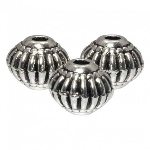 Metal Beads (8 x 6.5 mm) Antique Silver (20 pcs)