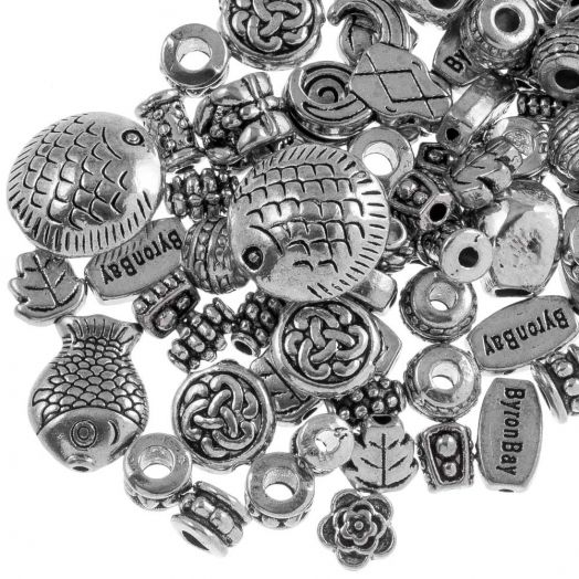 Advantage Package - Metal Beads (various sizes) Antique Silver (100 gram)