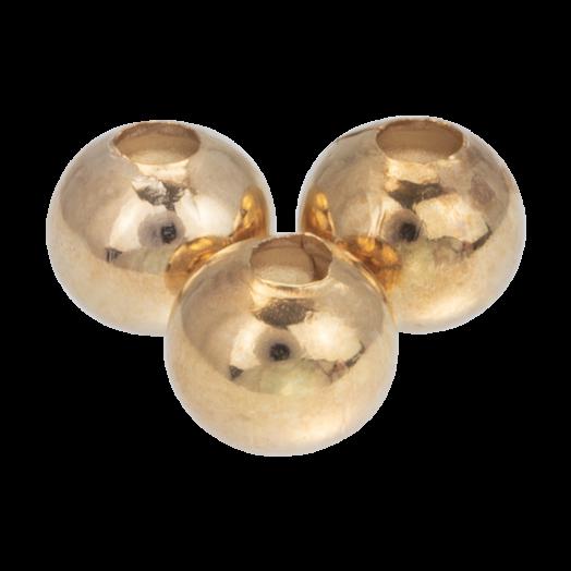 Metal Beads (8 mm) Gold (40 pcs)