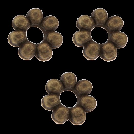 Metal Beads (6 mm) Bronze (40 pcs)