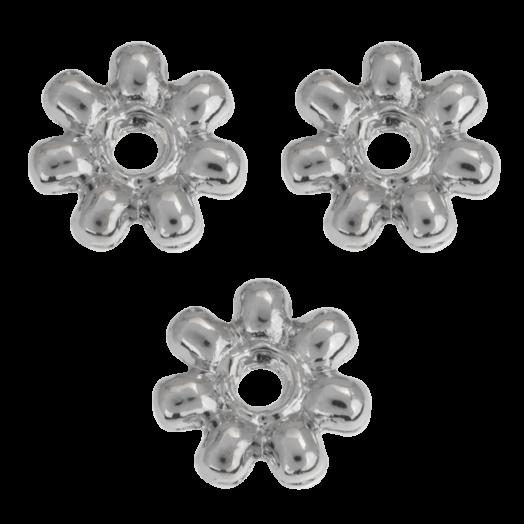 Metal Beads (8 mm) Antique Silver (40 pcs)