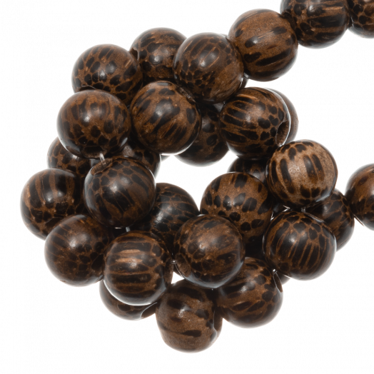 Wooden Beads Natural Look (8 mm) Patikan (52 pcs)