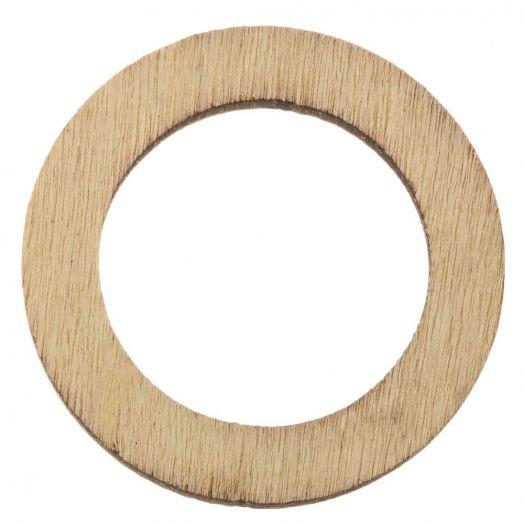 Wooden Pendants Circle (30 mm) 24 pcs
