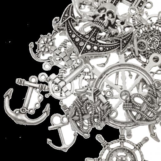 Advantage Package - Charm Anchor (various sizes) Antique Silver (40 pcs)