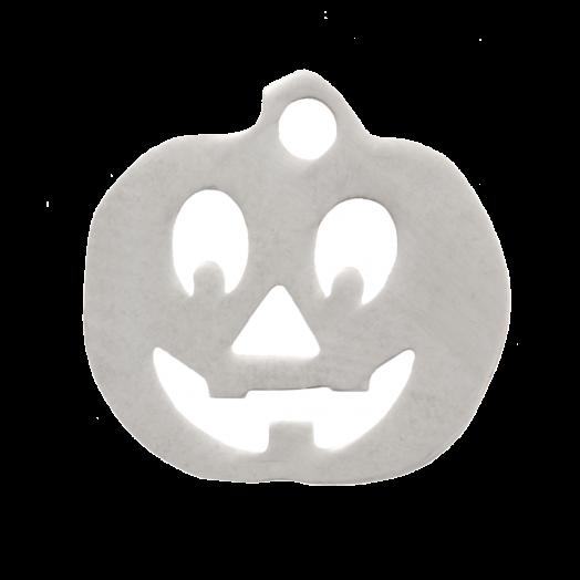 Stainless Steel Charm Pumpkin (12 mm) Antique Silver (4 pcs)