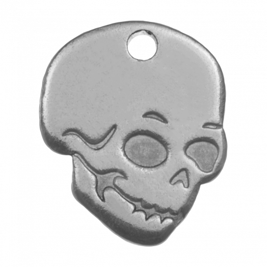 Stainless Steel Charm Skull (12 x 10 mm) Antique Silver (5 pcs)