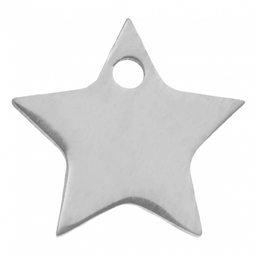 Stainless Steel Charm Star (11 x 11 mm) Antique Silver (4 pcs)