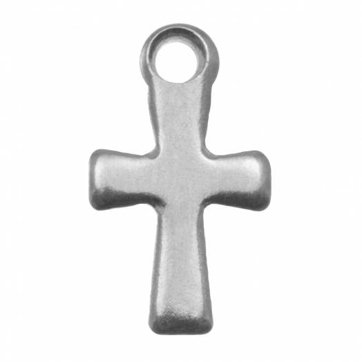 Stainless Steel Charm Cross (17 x 10 mm) Antique Silver (20 pcs)