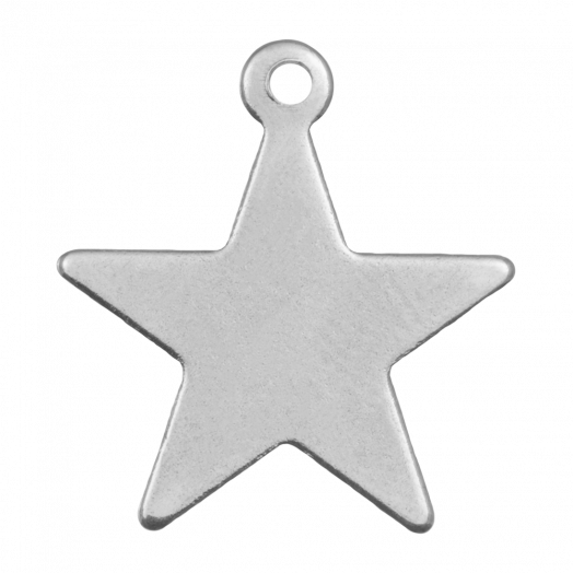 Stainless Steel Charm Star (20 x 18 mm) Antique Silver (10 pcs)