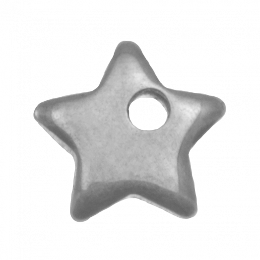 Stainless Steel Charm Star (6 x 6 mm) Antique Silver (25 pcs)