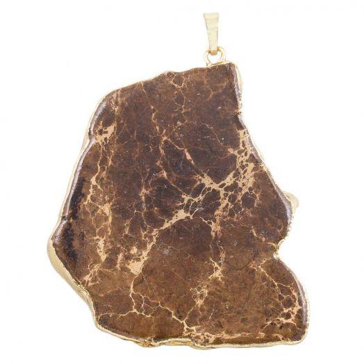 Pendant Regalite (35 - 68 x 30 - 45 x 6 mm) Brown (1 pcs)
