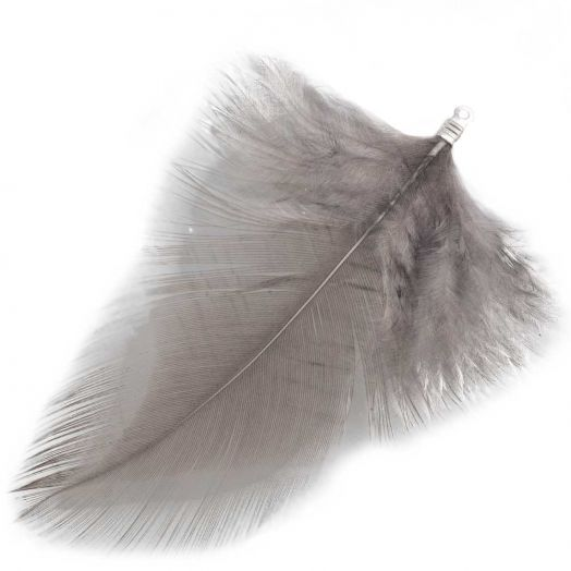 Feathers (7 cm) Warm Grey (10 pcs)
