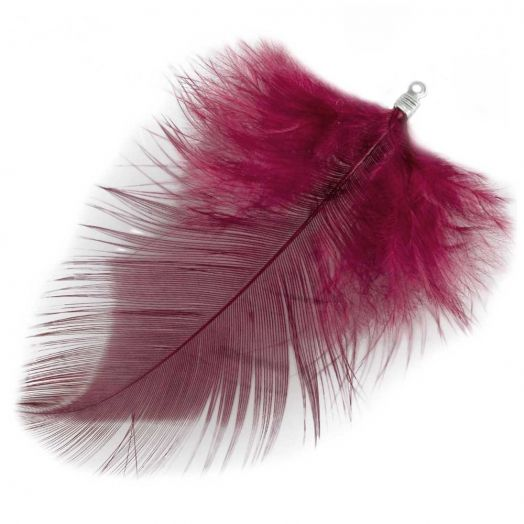 Feathers (7 cm) Dark Raspberry (10 pcs)