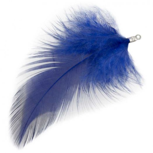 Feathers (7 cm) Royal Blue (10 pcs)