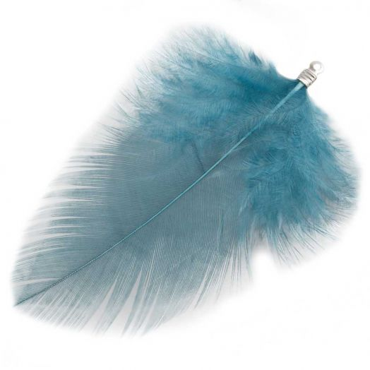 Feathers (7 cm) Blue Teal (10 pcs)