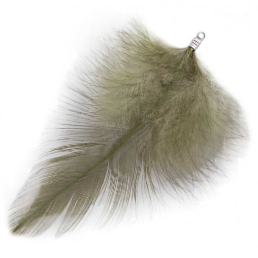 Feathers (7 cm) Moss Green (10 pcs)