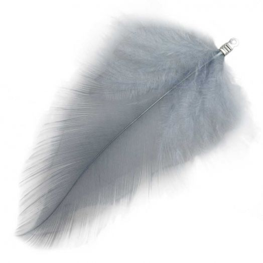 Feathers (7 cm) Blue Grey (10 pcs)