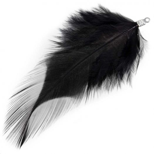 Feathers (7 cm) Black (10 pcs)