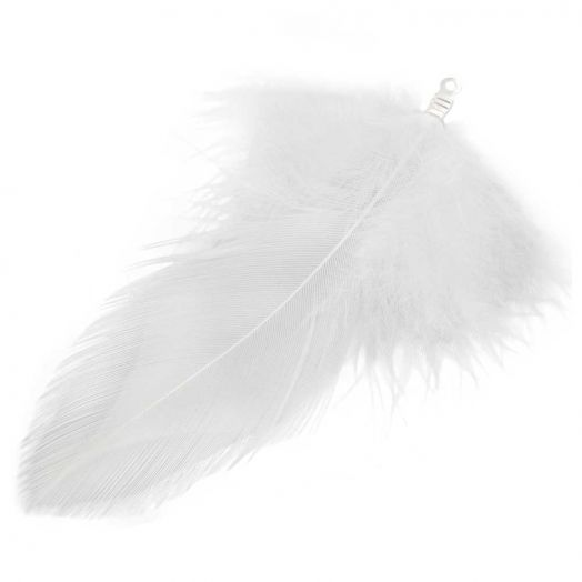 Feathers (7 cm) White (10 pcs)