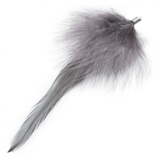 Feathers (12 cm) Warm Grey (10 pcs)