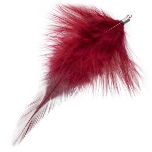 Feathers (12 cm) Dark Raspberry (10 pcs)