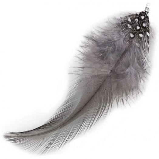 Feathers (10 cm) Dots Warm Grey (10 pcs)