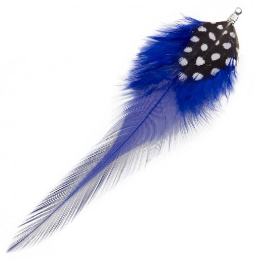 Feathers (10 cm) Dots Royal Blue (10 pcs)