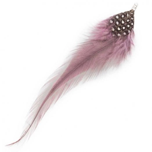 Feathers (10 cm) Dots Mountbatten Pink (10 pcs)