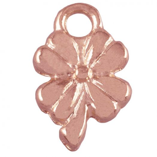 Charm Clover (13 x 8 mm) Rose Gold (25 pcs)