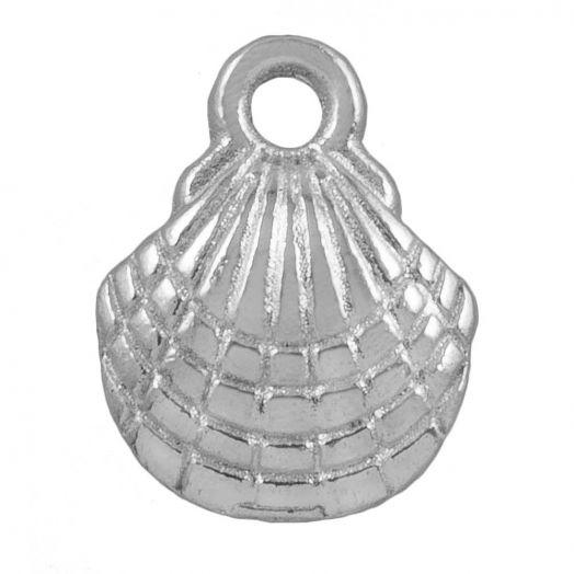 Charm Shell (13 x 10 mm) Antique Silver (25 pcs)