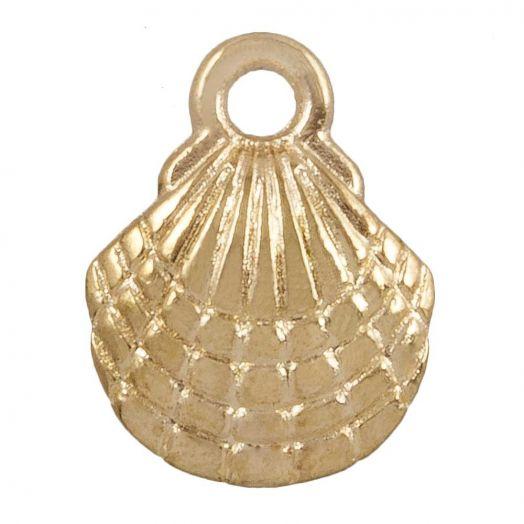 Charm Shell (13 x 10 mm) Gold (25 pcs)