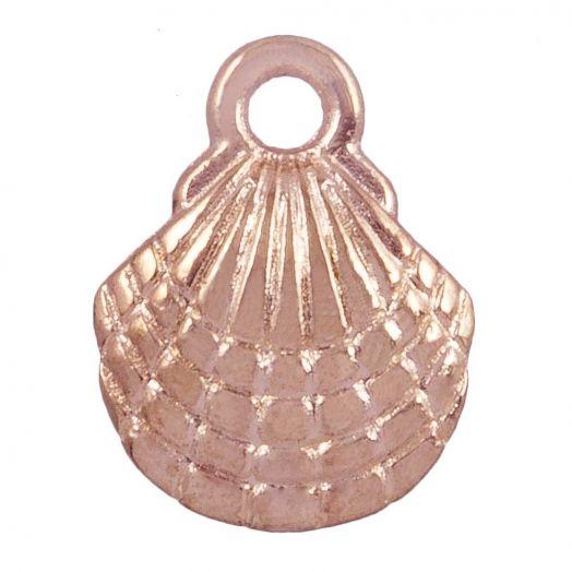 Charm Shell (13 x 10 mm) Rose Gold (25 pcs)