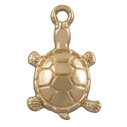 Charm Turtle (11 x 7 mm) Gold (25 pcs)