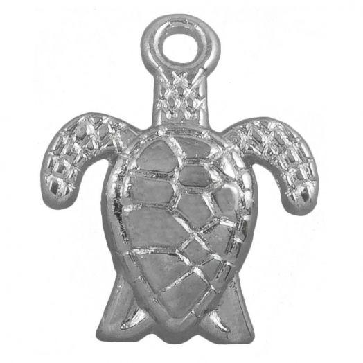 Charm Turtle (16 x 8 mm) Antique Silver (25 pcs)