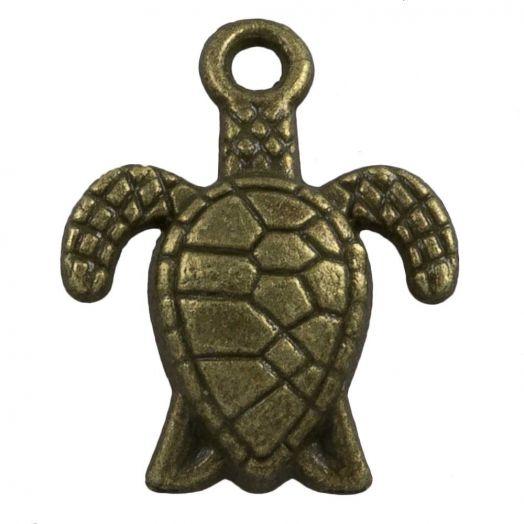 Charm Turtle (16 x 8 mm) Bronze (25 pcs)